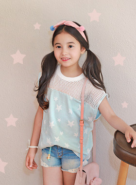 "<font color=#4bb999>* JKIDS 2017 S / S *</font> <br> Windy Star Tea <br> <font color=""#9f9f9f"">♡ Star pattern ♡ <br> Cool even in summer!</font>"