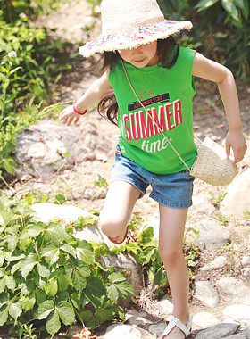 "<font color=#4bb999>* JKIDS 2017 S / S *</font> <br> It's Sleeveless Tee <br> <font color=""#9f9f9f"">♡ Vivid color ♡ <br> Great English printing!</font>"