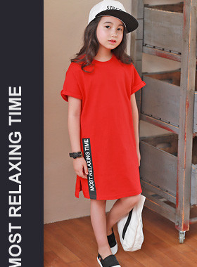"<font color=#4bb999>* JKIDS 2017 S / S *</font> <br> Time Slit Dress <br> <font color=""#9f9f9f"">* Intense red color * <br> * Unique design *</font>"