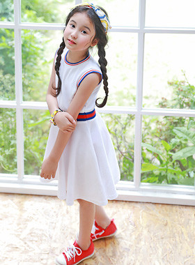 "<font color=#4bb999>* JKIDS 2017 S / S *</font> <br> Poval line dress <br> <font color=""#9f9f9f"">♡ I am so happy. <br> Lovely flare line!</font>"