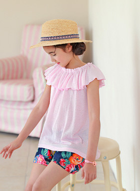 "<font color=#4bb999>* JKIDS 2017 S / S *</font> <br> Sugar frilly <br> <font color=""#9f9f9f"">♡ Lovely frill line ♡ <br> Soft pink color!</font>"