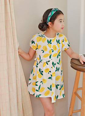 "<font color=#4bb999>* JKIDS 2017 S / S *</font> <br> Lemony dress <br> <font color=""#9f9f9f"">Lemon printing ♡ <br> I feel unbalanced!</font>"