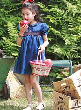 "<font color=#4bb999>* JKIDS 2017 S / S *</font> <br> Rosa denim dress <br> <font color=""#9f9f9f"">♡ Cute puff sleeve ♡ <br> Lovely baby pit!</font>"