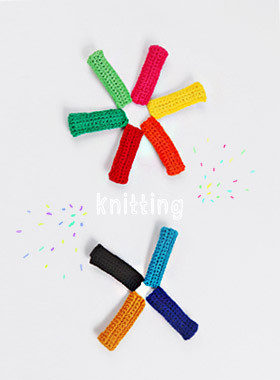 <font color=#4bb999>* JKIDS 2017 *</font> <br> Knit hairpin