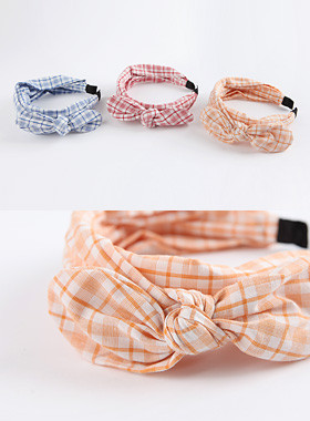 <font color=#4bb999>* JKIDS 2017 *</font> <br> Check ribbon hair band