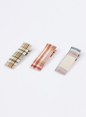 <font color=#4bb999>* JKIDS 2017 *</font> <br> Cotton check hairpin