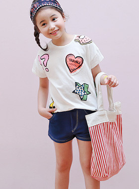 "<font color=#4bb999>* JKIDS 2017 S / S *</font> <br> Keith Spandex Denim Short Pants <br> <font color=""#9f9f9f"">♡ Stretchable Daily Pants ♡ <br> T-shirt, Blouse Cody It's beautiful!</font>"