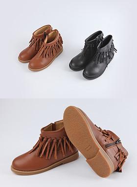 <font color=#edb200>* JKIDS 2017 *</font> <br> Tassel Boots <br> <font color=#8e5b69>★ real leather ★</font>