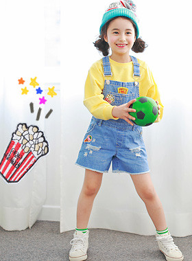 """<font color=#4bb999>* JKIDS 2017 S / S *</font> <br> Popcorn denim suspenders pants <br> <font color=""""#9f9f9f"""">* All things cute * <br> * Full-bodied overall pants *</font>"""