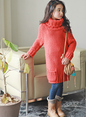 "<font color=#edb200>* JKIDS 2017 F ​​/ W *</font> <br> Pullover Knit Dress <br> <font color=""#9f9f9f"">♡ Rich and Warm turtleneck <br> Satisfied with beautiful color!</font>"
