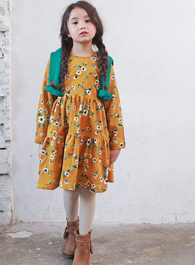 "<font color=#edb200>* JKIDS 2017 F ​​/ W *</font> <br> Sandy corduroy dress <br> <font color=""#9f9f9f"">* Fall Autumn romantic mood * <br> * Girlfriend sensibility dress *</font>"