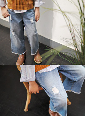 "<font color=#edb200>* JKIDS 2017 F ​​/ W *</font> <br> Wigle wide denim pants <br> <font color=""#9f9f9f"">* I can not be more comfortable than this * <br> * Stylish denim pants! *</font>"