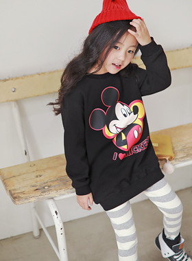 """<font color=#edb200>* JKIDS 2017 F / W *</font> <br> Mickey and Mickey SET <br> <font color=""""#9f9f9f"""">♡ Mickey Mouse Printing ♡ <br> One-to-One + Leggings = Leverage!</font>"""