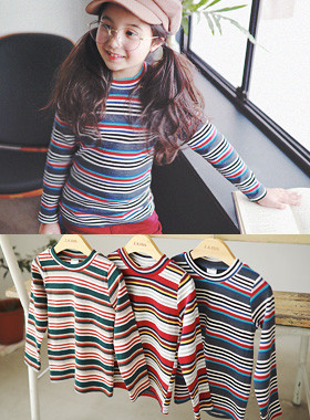 "<font color=#edb200>* JKIDS 2017 F ​​/ W *</font> <br> Sheet striped tee <br> <font color=""#9f9f9f"">♡ Attractive Striped Tee ♡ <br> It's stylish with a round round neck!</font>"