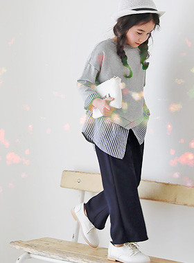 """<font color=#edb200>* JKIDS 2017 F / W *</font> <br> Wannabe Up and Down SET <br> <font color=""""#9f9f9f"""">♡ shirt one-man + slacks pants ♡ <br> Traned look is completed !!</font>"""