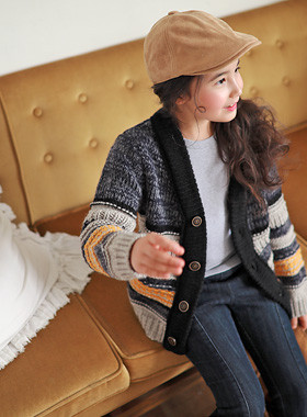 """Soul knit cardigan <br> <font color=""""#9f9f9f"""">The <br> From autumn to winter!</font>"""