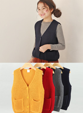 "Elton knit vest <br> <font color=""#9f9f9f"">♡ Various colors ♡ <br> Soft knit material!</font>"