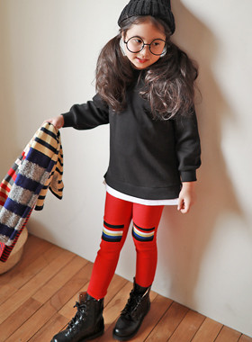 "<font color=#edb200>* JKIDS 2017 F ​​/ W *</font> <br> Dice leggings <br> <font color=""#9f9f9f"">* Perfect as a point! * <br> * Recurring knee patch *</font>"