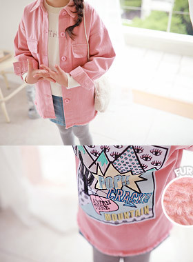 "<font color=#edb200>* JKIDS 2017 F ​​/ W *</font> <br> Dump Ringer Jacket <br> <font color=""#9f9f9f"">♡ Back point ♡ <br> Lots of lining!</font>"