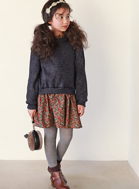 """* JKIDS 2017 F / W * <br> Julie Knit Dress <br> * Romantic atmosphere * <font color=""""#9f9f9f""""><br></font> * Layered look for easy styling *"""