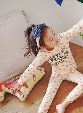 "* JKIDS 2017 F ​​/ W * <br> Apple pie dressing gown <br> Pretty Dot Holly ♡ <font color=""#9f9f9f""><br></font> Be careful even in the room!"