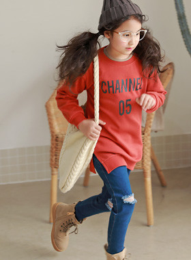 "* JKIDS 2017 F ​​/ W * <br> Channel long man-to-man <br> <font color=""#9f9f9f"">* stylish Daily Rontie * <br> * Easy leggings and OK *</font>"