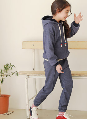 "* JKIDS 2017 F ​​/ W * <br> Lua Hood Up and Down SET <br> <font color=""#9f9f9f"">Material ♡ <br> Comfortable but good style!</font>"