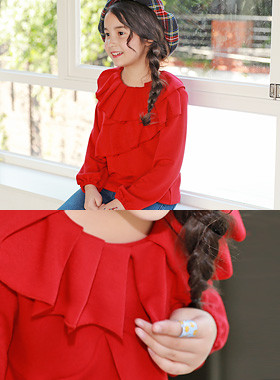 """<font color=#edb200>* JKIDS 2017 F / W *</font> <br> Miya Frilly <br> <font color=""""#9f9f9f"""">* Romantic atmosphere * <br> * Unexpected charm breaks! *</font>"""
