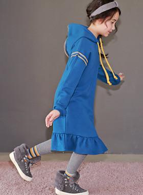 "<font color=#edb200>* JKIDS 2017 F / W *</font> <br> Amy Hood Long Dress <br> <font color=""#9f9f9f"">* Unbalanced sense of origin * <br> * Unique yellow stitch! *</font>"