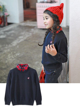 "<font color=#edb200>* JKIDS 2017 F ​​/ W *</font> <br> Willy shirt knit <br> <font color=""#9f9f9f"">♡ check shirt neck check ♡ <br> Recommended for daily look!</font>"