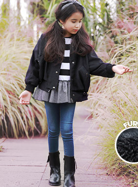 "<font color=#edb200>* JKIDS 2017 F ​​/ W *</font> <br> Shirring puff jacket jumper <br> <font color=""#9f9f9f"">* Daily Jacket popping ears * <br> * Awesome Awesome ♥ *</font>"