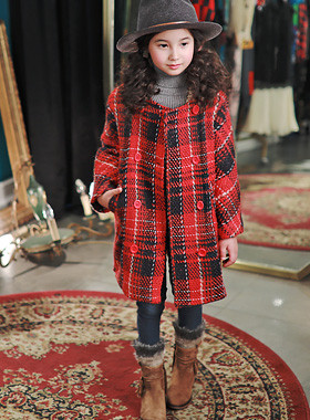 "<font color=#edb200>* JKIDS 2017 F ​​/ W *</font> <br> Tartan Double Woolen Coat <br> <font color=""#9f9f9f"">* Vintage Granilux * <br> * With a buffet styleUP! *</font>"