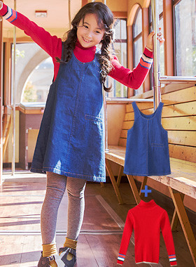 "<font color=#edb200>* JKIDS 2017 F ​​/ W *</font> <br> Didy Denim Dress SET <br> <font color=""#9f9f9f"">♡ Goliath Paula + Denim Dress ♡ <br> Perfect coordination set complete!</font>"