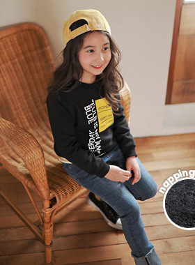 """<font color=#edb200>* JKIDS 2017 F / W *</font> <br> Post-it brushed man-to-man <br> <font color=""""#9f9f9f"""">♡ Beautiful English printing ♡ <br> Warm warm ~ napping lining!</font> <br> <font color=""""#a84c59"""">* Please order one size larger *</font> <br"""