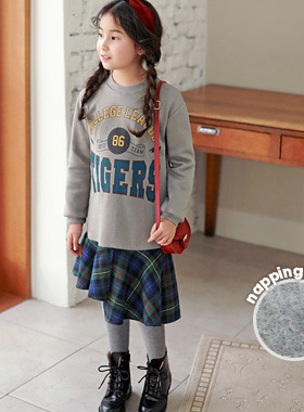 "<font color=#edb200>* JKIDS 2017 F ​​/ W *</font> <br> Leg check brushed dress <br> <font color=""#9f9f9f"">♡ Stylish Unhappy Check ♡ <br> Layered effect!</font>"