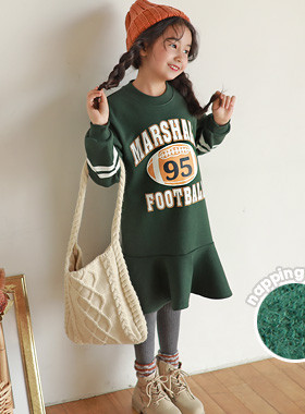"""<font color=#edb200>* JKIDS 2017 F / W *</font> <br> Football brushed dress <br> <font color=""""#9f9f9f"""">* A sense of stability * <br> * Cute and sporty lettering! *</font>"""
