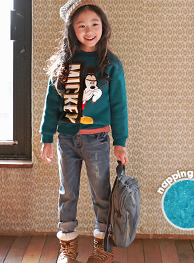"<font color=#edb200>* JKIDS 2017 F ​​/ W *</font> <br> Surprise brushed man-to-man <br> <font color=""#9f9f9f"">♡ Stylish Uncut Cutting ♡ <br> Mickey Printing is right!</font>"