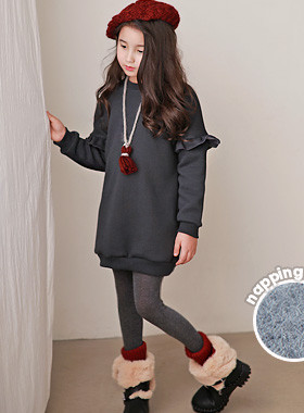 """<font color=#edb200>* JKIDS 2017 F / W *</font> <br> Selby Baby Morong One-man <br> <font color=""""#9f9f9f"""">♡ Lovely ♡ with ruffle wings <br> Warm in the brushed lining and covering the heap! <br> Leggings, easy to coordinate with Skinny: D</font>"""