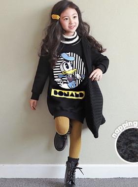 """<font color=#edb200>* JKIDS 2017 F / W *</font> <br> Donald Turtle Brushed Dress <br> <font color=""""#9f9f9f"""">♡ Lucky lined brushed lining ♡ <br> * Pretty Donald is perfect! *</font>"""