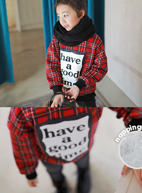 "<font color=#edb200>* JKIDS 2017 F ​​/ W *</font> <br> Good Time brushed man-to-man <br> <font color=""#9f9f9f"">Red Check ♡ <br> Christmas recommended look!</font>"