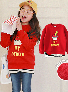 "<font color=#edb200>* JKIDS 2017 F ​​/ W *</font> <br> Potato brushed man-to-man <br> <font color=""#9f9f9f"">* Wherever you go, <br> * Tidling ♥ Simple coordination layered look *</font>"