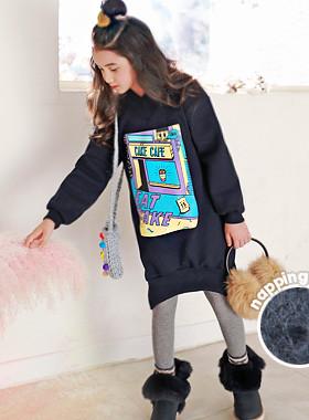 "<font color=#edb200>* JKIDS 2017 F / W *</font> <br> Cake brushed dress <br> <font color=""#9f9f9f"">* Slim to face line * <br> * Ariba Pretty Pretty Winter Fashion *</font>"