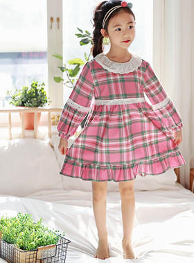 "Bonbon Pajama Dress <br> <font color=""#9f9f9f"">♡ Romantic Race Point ♡ <br> Lovely pink check!</font>"