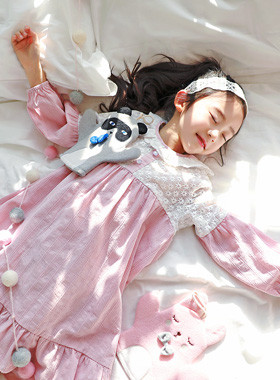 "Mary Mi pajama dress <br> <font color=""#9f9f9f"">* Pajamas dress like a bright spring * <br> * Lovingly at home *</font>"