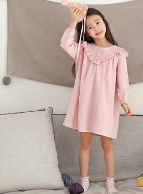 "Doile Pajama Dress <br> <font color=""#9f9f9f"">♡ Romantic Flower Race ♡ <br> Comfortable Pit Homewares!</font>"