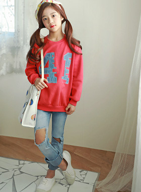"""Pony Patch One-man <br> <font color=""""#9f9f9f"""">♡ Red color ♡ <br> Casual daily look!</font>"""