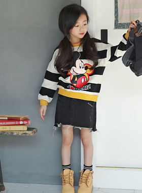 """Alep Mickey Man to man <br> <font color=""""#9f9f9f"""">* ♡ I'm the best ♡ * <br> * Sporty Mickey Mouse Printing! *</font>"""