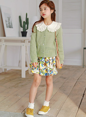 """Lime knit cardigan <br> <font color=""""#9f9f9f"""">* Chun Soon Chun Charm 吹 っ * <br> * Lovely cardigan with snacks *</font>"""