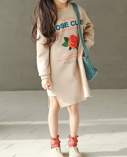 """rose club One Piece <br> <font color=""""#9f9f9f"""">Romantic rose printing ♡ <br> Daily One Easy One Piece!</font>"""