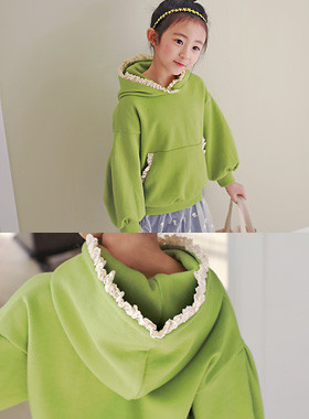 "Tiara hood man to man <br> <font color=""#9f9f9f"">♡ Lovely Race Hood ♡ <br> It's refreshing.</font>"